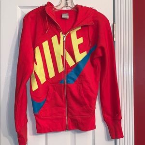 New Nike Women's Red Hoodie Size XS